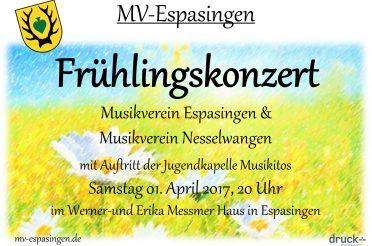 Frühlingskonzert zusammen mit dem MV Nesselwangen