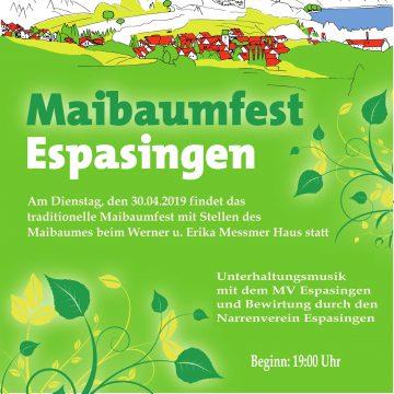 Maibaumstellen in Espasingen